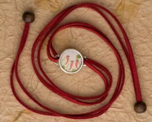 [:pb]pulseira camurça prata aquarela[:en]watercolor silver and suede bracelet [:]