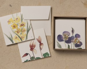 "[:pb]caixa flores 8 cartões diversos duplos com envelopes 8,5 x 8,5cm[:en]flowers box: 8 assorted folded cards and envelopes 3.35"" x 3.35""[:]"