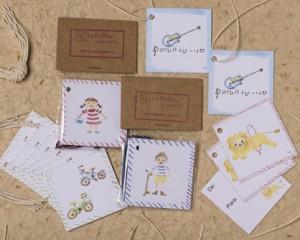 """[:pb]cartões DE/PARA infantil 10 unidades 5 x 5cm[:en]10 gift-tags for children 2"""" x 2""""[:]"""