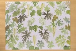 "[:pb]jogo americano em papel laminado folhas 42 x 31cm[:en]laminated paper table mat set - leaves 16.54"" x 12.20""[:]"